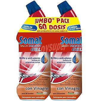 Somat detergente lavavajillas Multi Perfect gel con vinagre pack 60 dosis