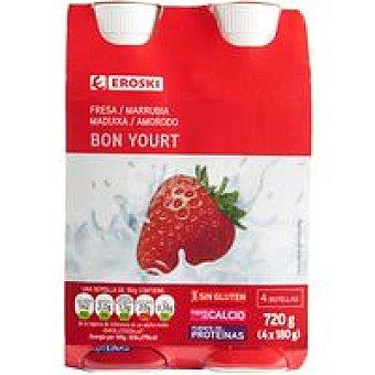 Eroski Bonyourt de fresa Pack 4x180 g