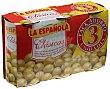 Aceitunas rellenas de anchoa Pack 3x150 g La Española