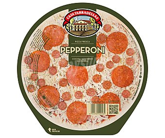 Casa Tarradellas Pizza fresca de pepperoni cocida al horno de piedra 400 g