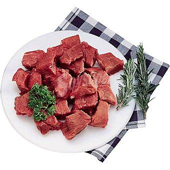 Vaca label carne magra zaharra troceada para guisar