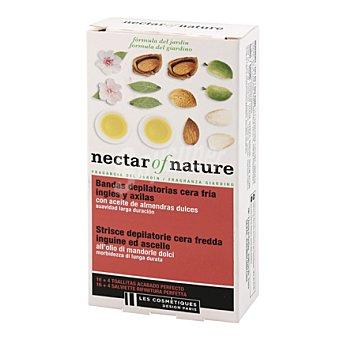 Les Cosmétiques Bandas cera fría ingles y axilas con aceite de almendras - Nectar of Nature 16 ud