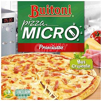 Buitoni Pizza Micro crujiente de jamón y queso especial microondas Estuche 315 g