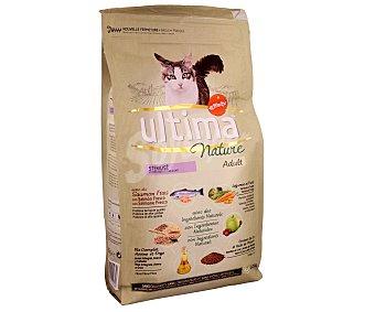 Ultima Affinity Comida para Gatos Esterilizados Nature a base de Salmón bolsa de 1,25 kg