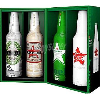 Heineken Cerveza rubia holandesa pack especial 4 botellas 47,3 cl