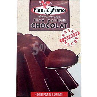 FLAN DE FRANCE flan de chocolate sin azúcar envase 16 g 4 unidades