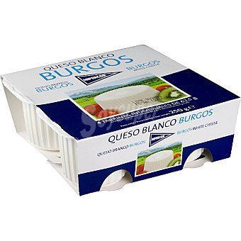 HIPERCOR queso fresco blanco de Burgos  pack 4 envases 62,5 g