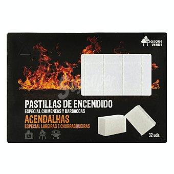 Bosque Verde Enciende fuego en pastillas Caja 32 u