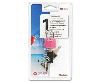 Auchan Candado con llave y cierre TSA ( Cierres homologados por la Agencia de Seguridad en el Transporte de eeuu) 1 Unidad