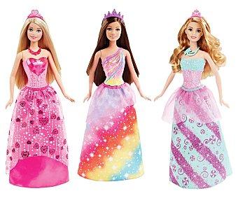 Barbie Surtido de muñecas princesas con tiara y peine barbie