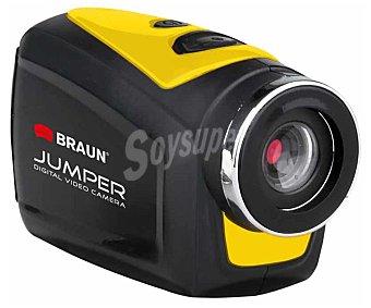 BRAUN JUMPER II Videocámara deportiva de alta definición, full HD, 8 Megapixeles, resistente al agua, lector de tarjetas hasta 32GB.
