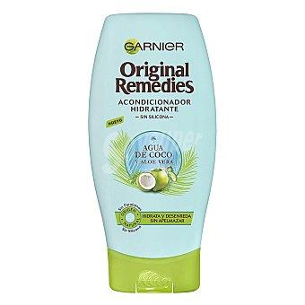 Original Remedies Garnier Acondicionador hidratante agua de Coco y Aloe Vera Frasco 250 ml