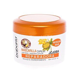 Babaria Mascarilla reparadora con jojoba y ginseng reduce el encrespamiento Tarro 400 ml