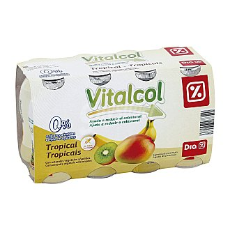DIA VITAL Yogur líquido reduce colesterol tropical Pack 8 unidades 100 ml
