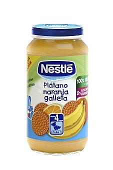 Naturnes Nestlé Tarrito de plátano, naranja y galleta desde 4 meses sin gluten Envase 250 g