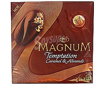 Frigo Magnum Helado Temptation Caramelo-Almendras 3x80ml