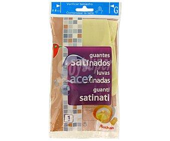 Auchan Guante Satinado Tamaño Grande 8-8 1/2 1Par