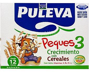 Puleva Peques 3 Leche de Crecimiento con Cereales Caja 6 Unidades