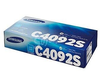 Samsung Toner CLT-C4092S, Cian, compatible con impresoras: CLP310/315, CLX3170FN/3175N/3175FN/3175FW