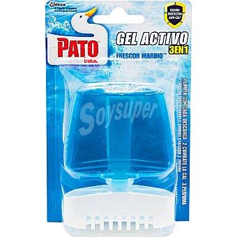 Pato Desinfectante WC gel azul aparato + recambio