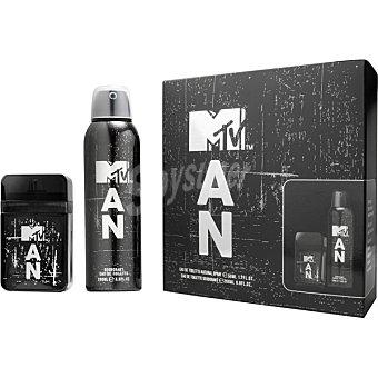 MTV eau de toilette natural masculina spray 50 ml + desodorante spray 200 ml