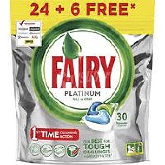 Fairy Platinum Lavavajillas máquina sin fosfatos Bolsa 30 dosis
