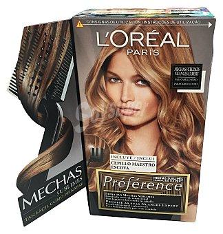 Recital Preference L'Oréal Paris Mechas sublimes para cabello rubio caja 1 unidad incluye cepillo maestro escoba Caja 1 unidad