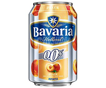 Bavaria Cerveza holandesa sin alcohol 0,0% con melocotón Lata de 33 centilitros