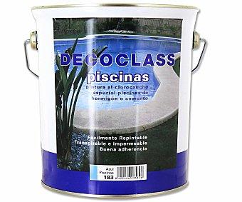 DECOCLASS Pintura Especial para Piscinas, Color Azul 4 Litros
