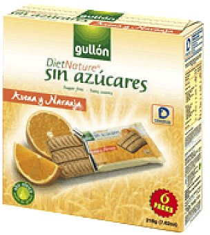 "Gullón Galletas sin azucar ""diet Nature"" de avellana y naranja 216 g"