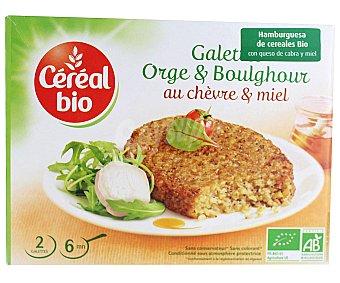 CEREAL BIO Hamburguesa vegetal Bio de tofu y mijo con queso 200 Gramos