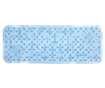 TOYMA Alfombra antideslizante para ducha modelo Gotas, color azul traslúcido, 95x36 centímetros 1 unidad