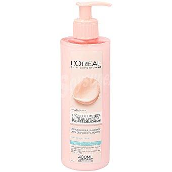 L'Oréal Leche de limpieza con extracto de rosa y loto para pieles normales a mixtas Dosificador 400 ml