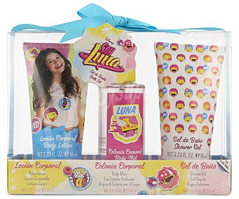 Disney Bolsa de aseo con colonia infantil de 50 mililitros y gel de baño de 100 mililitros, Soy Luna 1 unidad