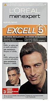 L'Oréal Tinte coloración tono sobre tono hombre Nº 03 moreno natural excell 5 (peine aplicador) 1 unidad
