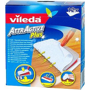 VILEDA Attractive Plus Recambio de mopa caja 12 Unidades