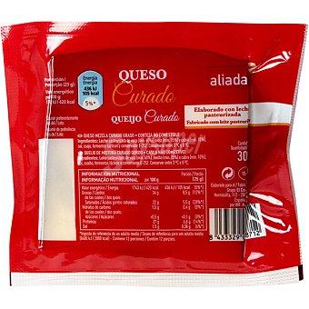 Aliada Queso curado mezcla elaborado con leche pasteurizada cuña 300 g