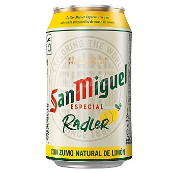 San Miguel Cerveza radler con limón Lata 33 cl