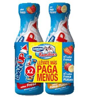 Danone Yogur liquido fresa + fresa / plátano Dan'up Pack de 2x600 g