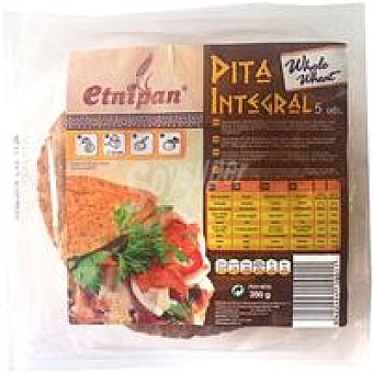 ETNIPAN Pan pita integral paquete 5u 350 gr