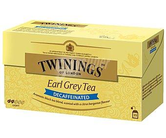 Twinings Té Earl Grey desteinado Estuche 25 sobres (50 g)