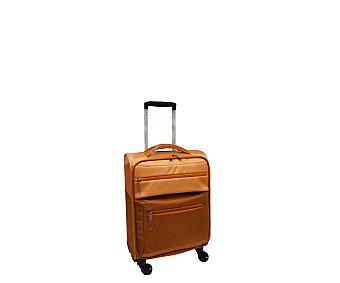 Maleta Maleta con 4 ruedas pivotantes, con estructura flexible de polyester en dos tonos diferentes de naranja, medida de 48 centímetros 48cm
