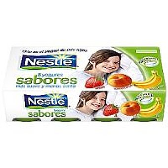 Nestlé Yogur de fresa-plátano-melocotón Pack 8x125 g