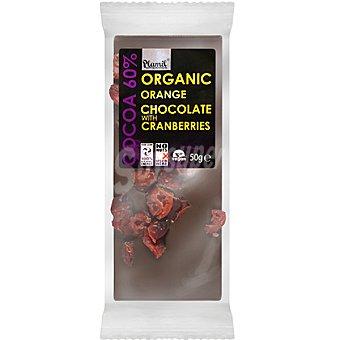 Plamil Chocolate 60% cacao con naranja y arándanos rojos ecológico Unidad 50 g
