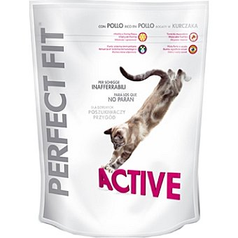 Perfect Fit Active con pollo para gatos que no paran Paquete 750 g