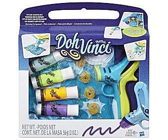 PLAY-DOH Doh Vinci Deluxe Styler Deluxe Styler, aplicador para diseños 3D, incluye 4 tubos de pintura Doh Vinci, PLAY DOH.