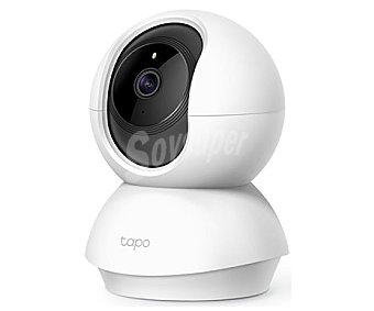 TP-LINK Cámara Wi-Fi rotatoria 1080p, visión nocturna, detección movimiento, micrófono y altavoz Tapo C200