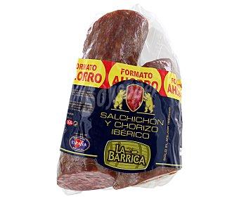 ESPÀÑA Chorizo Ibérico 450 Gramos + Salchichón Ibérico 450 Gramos Formato Ahorro españa 900g