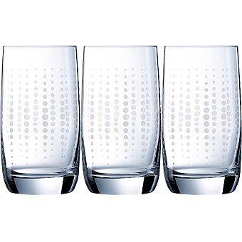 LUMINARC Vigne Funky Dots Vasos de vidrio set de 3 unidades 33 cl