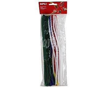 APLI Bolsa de 50 limpiapipas de colores surtidos 1 unidad